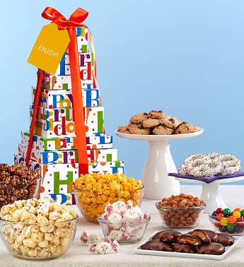 The Popcorn Factory Big Birthday Tower