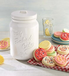 Cheryl's Mason Jar with Cut- Out Cookies