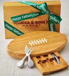 Sausage & Cheese Box with Football Cheese Board