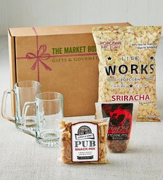 Sriracha, Snacks & Beer Steins