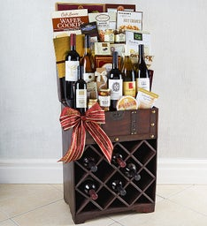 Raise a Glass 6 Bottle Gourmet Wine Trunk