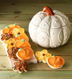 Cheryl's Pumpkin Cookie Jar with Cut-Outs