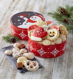 Cheryl's Holiday Cheer Snowman Tin with Treats
