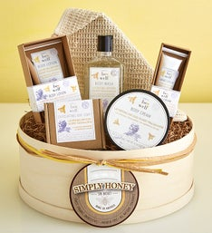 Simply Honey & Lavender Organic Spa Gift Box