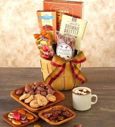 Shades of Autumn Chocolates and Sweets Basket