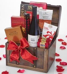 Perfect Pairing Valentine Wine & Chocolates Trunk