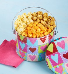 The Popcorn Factory Heart Deco Popcorn Pail 1/2G