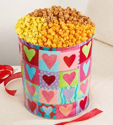 The Popcorn Factory Heart Deco PopcornTin