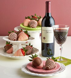 Valentine Strawberries & Cabernet Sauvignon Wine