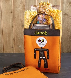 Personalized Skelly Skeleton Bag with Goodies