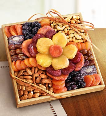 Ever Blooming Sympathy Fruit  Nuts Crate
