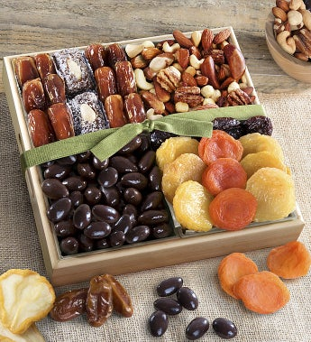 Dried Fruits with Savory & Chocolate Nuts Crate