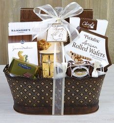 Faith & Fond Memories Sympathy Candle Basket