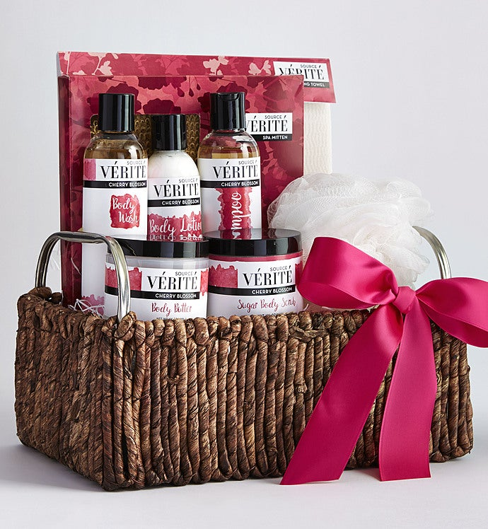 Soothing Cherry Blossom Spa Gift Basket