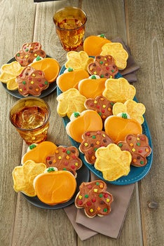 Cheryl's Fall Frosted Cut-Out Cookies