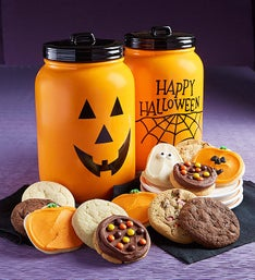 Cheryl's Happy Halloween Mason Jar with Cookies