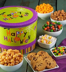 Popcorn Factory Happy Halloween Snack Asst Tin