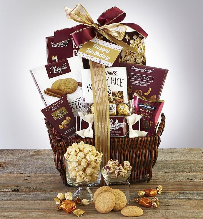 Happy Birthday Deluxe Balsam Gift Basket & Birthday Gift Baskets Delivery u0026 Gourmet Food | 1800Flowers.com