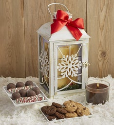 Holiday Treat Lantern with Chocolate Candle