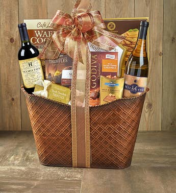 Perfect Pairing Wine & Chocolates Gift Basket