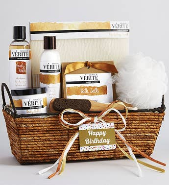 Happy Birthday Vanilla Bliss Relaxing Spa Basket