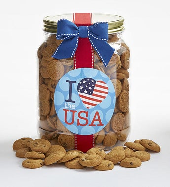 Americana Chocolate Chip Cookie Jar