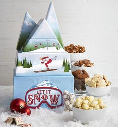 Winter Snow Sweets Gift Tower