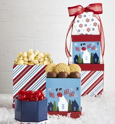 Merry & Bright Musical Light Up Gift Tower