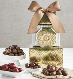 Chocolate Covered Fruit & Nuts Tower