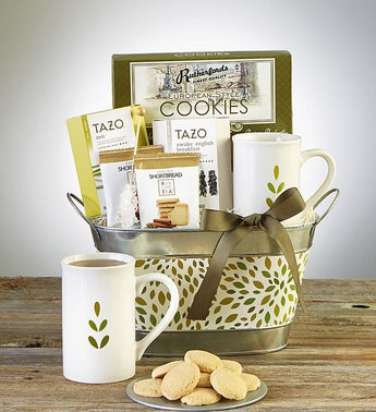 Relax  Nurture Tea Basket featuring Tazo Teas