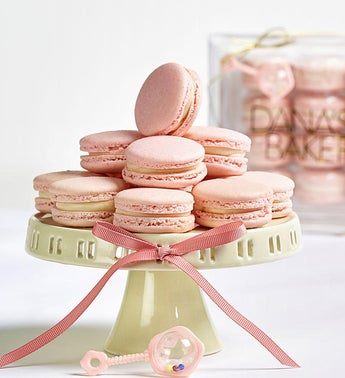 Danas Bakery Baby Girl Pink Macarons -12 pc box