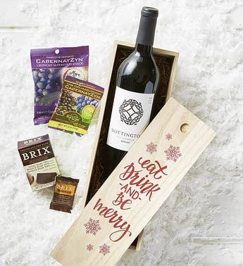 Eat Drink  Be Merry Wine  Chocolate Crate