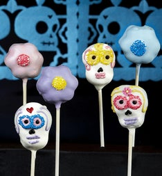 Day of the Dead Truffle Cake Pops