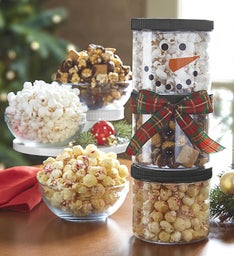 The Popcorn Factory Snowman Stack Set