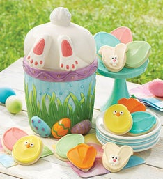Cheryl's Bunny Butt Jar with Frosted Cut-Outs