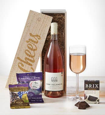 Cheers! Rosé of Pinot Noir Wine & Chocolates Crate