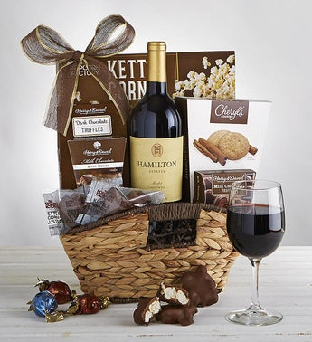 Premier Favorites Gift Basket with Wine