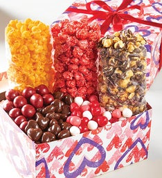 The Popcorn Factory Forever Hearts Sampler Box
