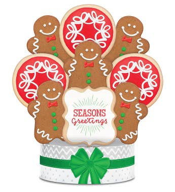 Holiday Gingerbread Cookie Arrangement