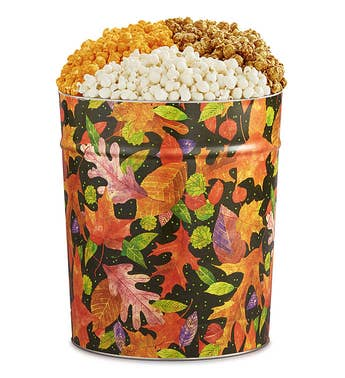 The Popcorn Factory 35G Fall Tin - 3 Flavors
