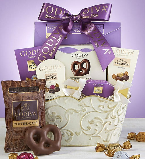 Godiva®Sweets & Chocolates Gift Basket