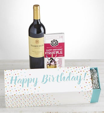 Happy Birthday! Cabernet Wine & Chocolate Box