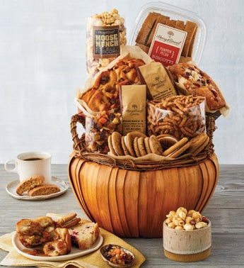 Harry  David Pumpkin Shaped Gift Basket