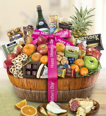 Mothers Day Grand Fruit  Sweets Gift Basket