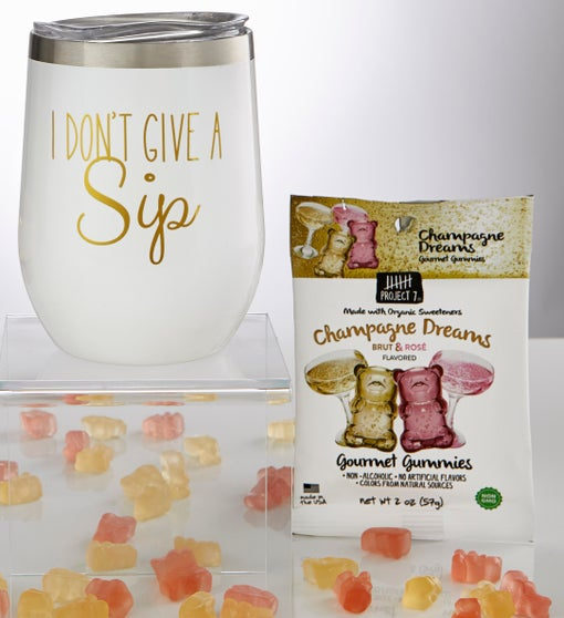 Sippable™ Glitter Tumbler Cup with Gummies