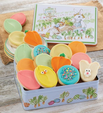 Cheryls Easter Frosted Cookie Tin