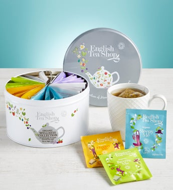 English Tea Shop Wellness Tea Round Tin