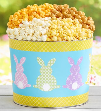 The Popcorn Factory Colorful Cottontails 2G Tin