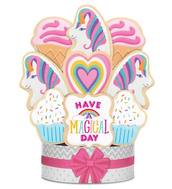 Have a Magical Day! Unicorn Cookie Arrangement