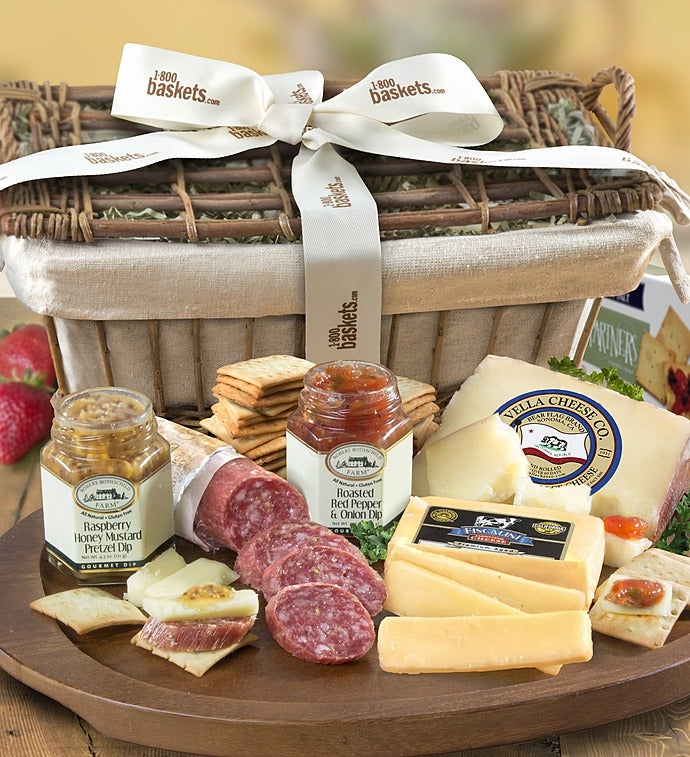 Epicurean Meat  Cheese Gift Basket